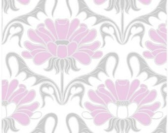 100% Cotton - Pink and Grey - Springs Creative - Concord House Grace Floral - Quilting Cotton - Fabric by the Yard - Quilting Cotton