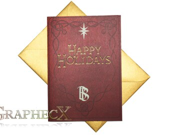 Fan-made Hobbit Lord of the Rings inspired Christmas Holidays card