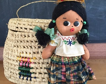 Handmadevintage baby doll mexican style