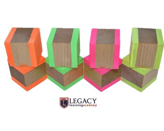 Waldorf Toy Blocks, Wooden Block Puzzle, Learning Wood Blocks, Learning Toy