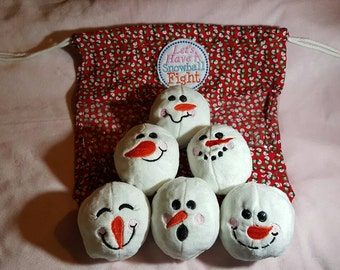 FUN SNOWMAN SNOWBALLS (Red snowman bag)