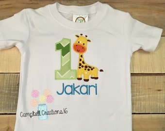 First Birthday Giraffe Shirt - First Birthday Shirt - Giraffe Shirt