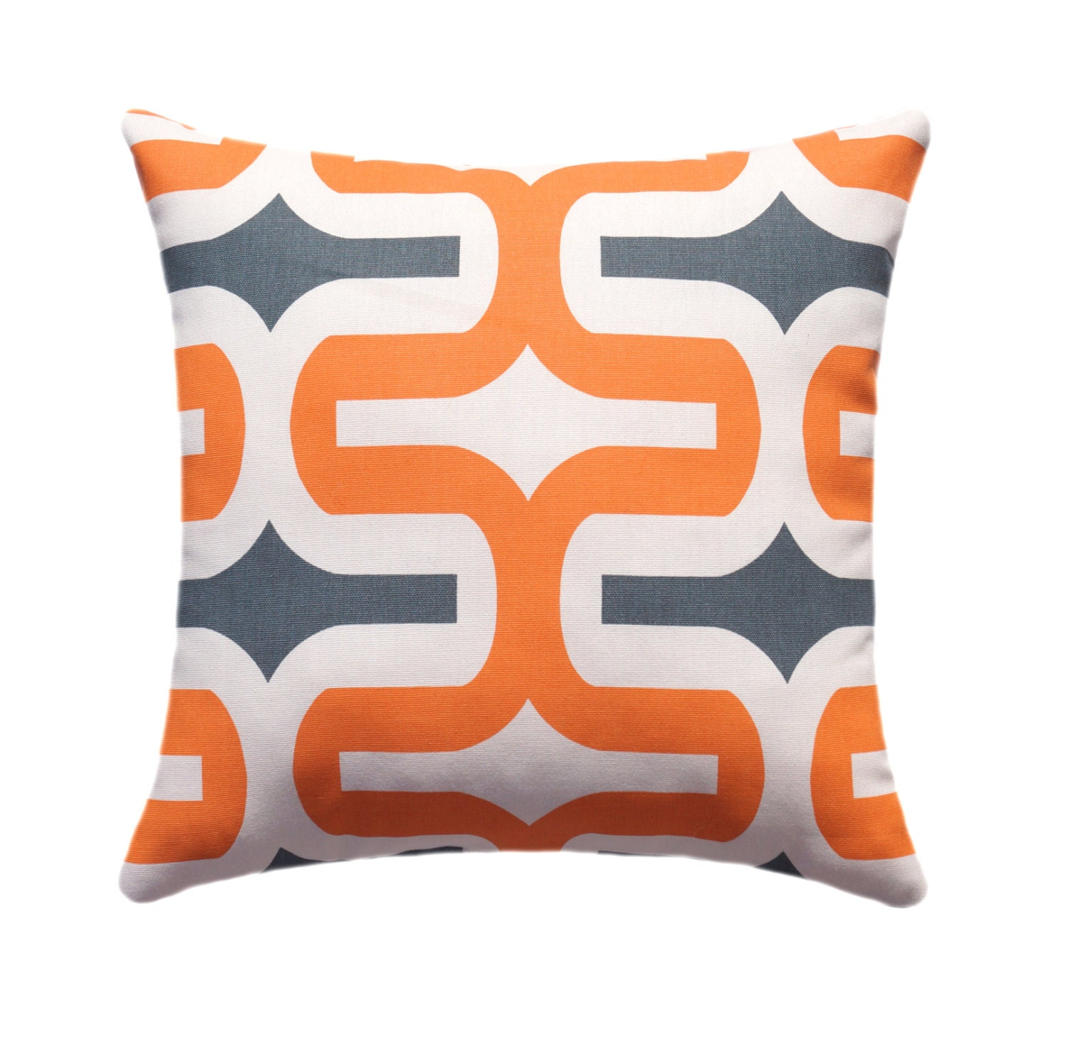 orange and gray pillow cover geometric by thepillowcoverstore. Black Bedroom Furniture Sets. Home Design Ideas