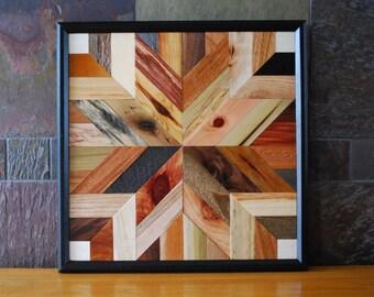 Wood Wall Art, Rustic Wall Decor, Wood Wall Decor, Wood Decor, Star Quit Design Wall Art, Rustic Home Decor, Wood Art, Quilt Block