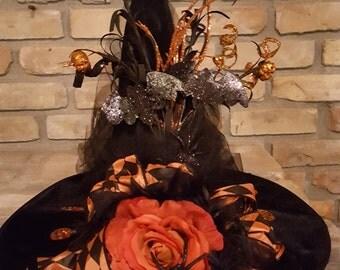 Black Velour Witch's Hat