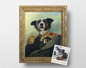 Custom Royal Pet Portrait From Your Photos - Regal Pet Portrait - Digital File - Size: 16x20inch, 40x50cm