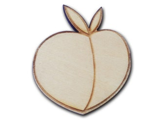 Peach Wooden Pin
