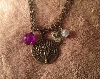 """22"""" Double chain pendant necklace"""