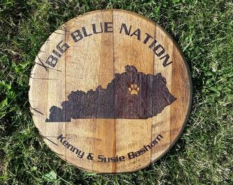 Big Blue Nation Bourbon Barrel Head