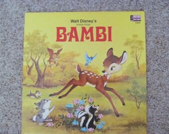1969 Walt Disney LP- Bambi