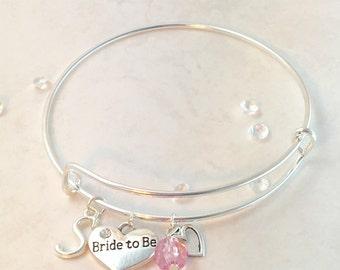 """Custom / Personalised """"Bride To Be"""" Charm Bracelet"""