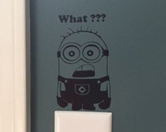 Minion decal, FREE SHIPPING, Home decor, kids room decor, vinyl decal #191