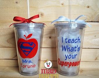 Superhero Teacher Cup