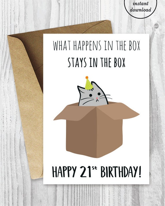Simplicity image inside 21st birthday cards printable