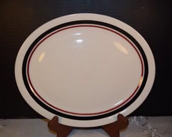 Jackson China Large Oval Platter Vintage Restaurant Diner Ware Plate Cafe Diner Plate Platter Restaurant China Cottage Chic Farmhouse Rustic