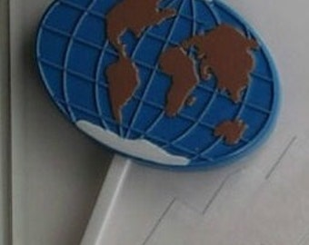 20 Chocolate GLOBE EARTH Lollipop Party Favors
