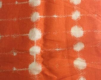 """Marimekko """"Pisara"""" linen fabric, orange, remnant"""