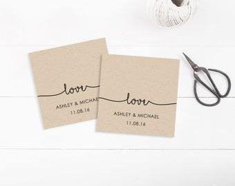 Printable Wedding Tags template, Favor Tags, Invitation Tags, Editable ...
