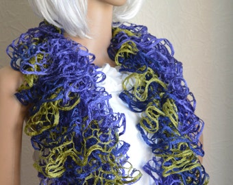 Hand knitted women's scarf