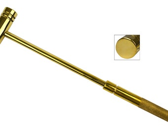 "9"" All Brass Hammer Jewelry Making Metal Forming Tool - HAM-0020"