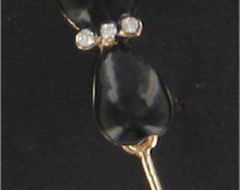 Cat Earrings, Black Cat, Black Cat Earrings, Gold Earrings, Gold Cat Earrings, Black Cat Charm, Cat Charm, Cat Lovers, Cat Lady