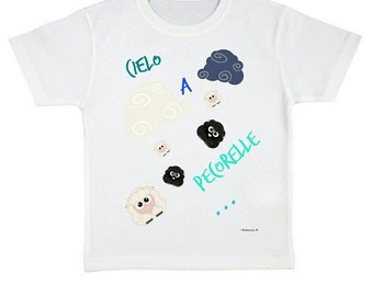 "40% OFF white t-shirt ""mackerel sky ..."" digital printing sheep and clouds"