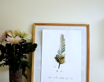 Poster A3 Wind, nature inspired home