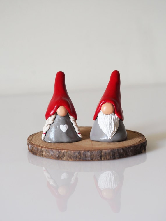 Gnome figurines two christmas gnomes decorations