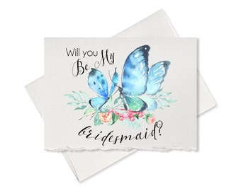 Please be my bridesmaid bridal party wedding card for bridal shower announcement maid of honor flower girl wedding bridesmaid card