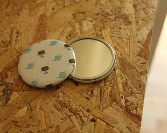 Tea and Cake Pocket Mirror