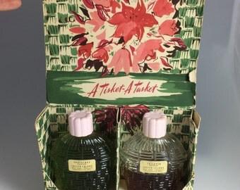 Vintage Lucien Lelong Indiscret & Tailspin Cologne Perfume Set 2oz Each in Box, Lucien Lelong Perfume, Vintage Perfume
