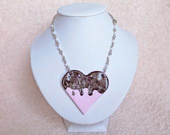 Sweet Heart Cookie Kawaii Lolita Necklace