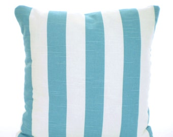 Exceptional Aqua Stripe Pillow Covers, Coastal Blue, Nautical Cushions, Patio Pillows,  Decorative Pillow