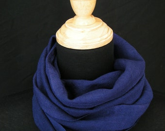 Naturally Dyed Wool Gauze Scarf - Logwood Purple