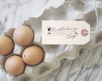 Farm Fresh Eggs - Egg Carton Stamp - Custom Egg Labels - Egg Stamp - Chicken Coop - Fresh Eggs Stamp - Egg Labels - Farm - Chickens