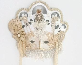 Womens Masquerade Mask Lace, Masquerade Ball Mask, Venetian Mask, Mardi Gras Mask, Venitian Mask, Masquarade Mask, Shabby Chic Mask