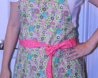 Pink & Green Circles Apron