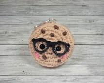 One Smart Cookie Kawaii Plush Amigurumi Crochet Keychain Teacher Gifts Nerd Gifts Graduation Gifts Mini Plushie Cute Keychain Whatknots