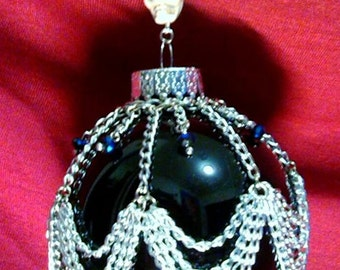 Gothic Chain Swag Skull Christmas Ornament