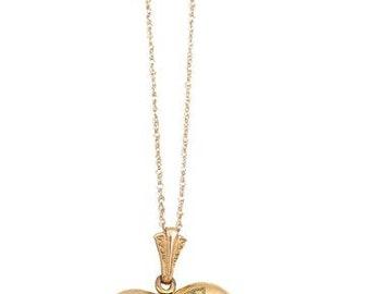 Vintage 1940s Heart Locket Necklace