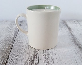 Caffè Mocha Candle- in Vintage Ceramic Coffee Mug, just like the Starbucks Favorite! Christmas gift or stocking stuffer