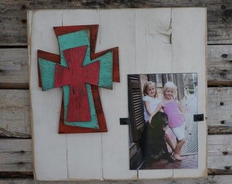 Triple Cross Photo Frame