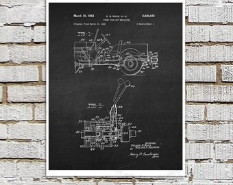Willys Jeep Patent Print # 4, one single unframed art print, Vintage Jeep crankcase parts patent, Jeep Gift idea, Jeep Wall Decor