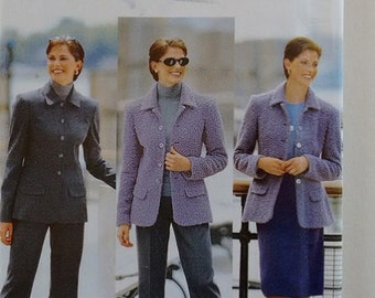 UNCUT Butterick 6342 Sewing Pattern Ladies Suit Jacket Trouser Pant and Skirt
