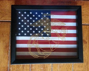 Military logo Shadow Box