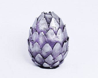 Purple Silver Dragon Egg Game Of Thrones Inspired