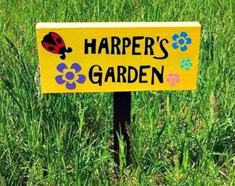 Custom Garden Sign Personalized Garden Sign Weatherproof