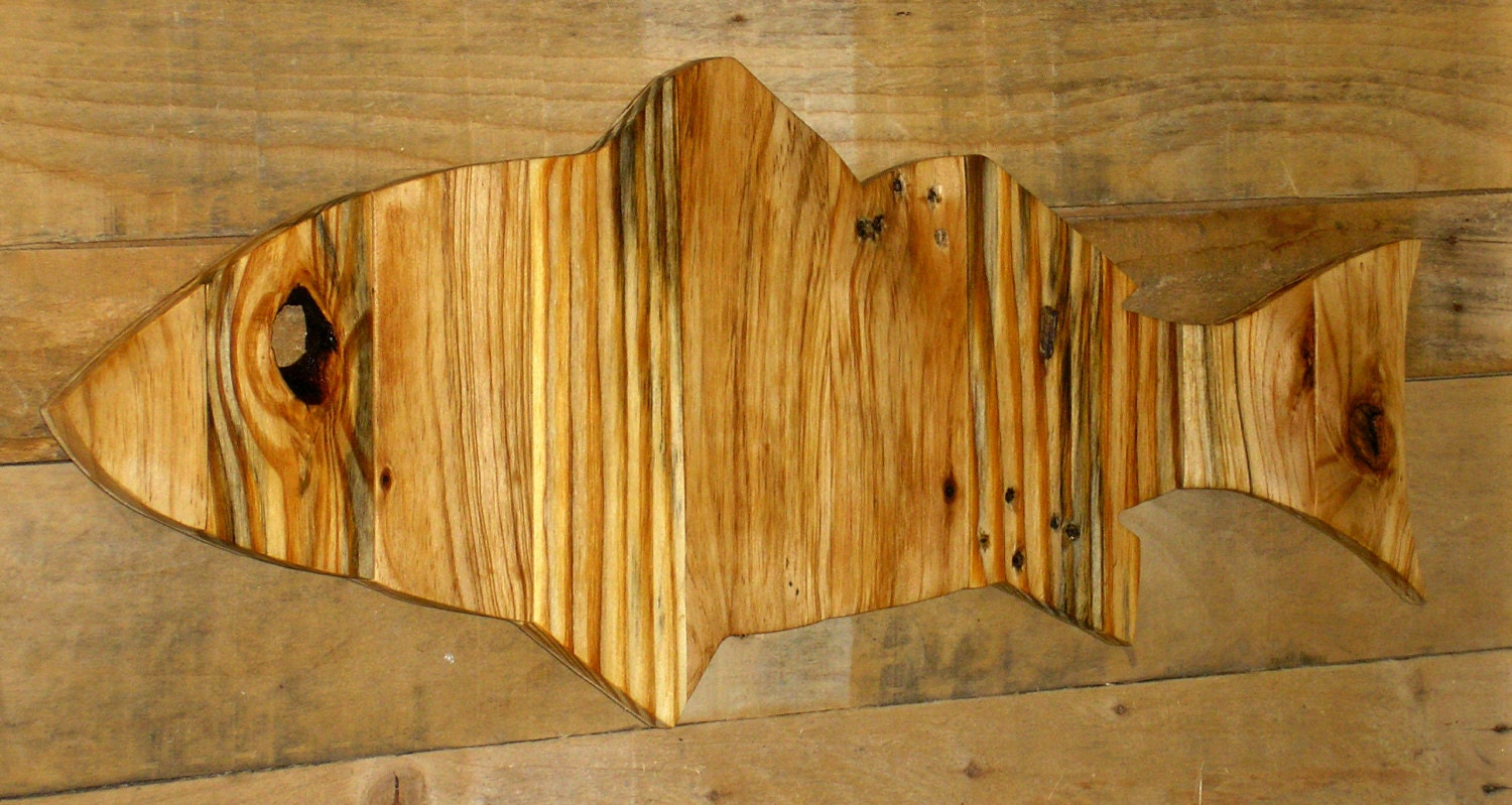 Fish Wall Decor Wood : Pallet wood fish decor wall art rustic