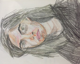 Crayon or Pen Portrait (purchase listing then contact me with pictures)