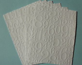 6 Numbers Embossed Card Fronts Toppers A2 Size